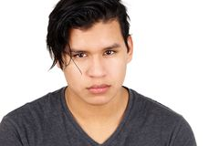 Young latino man serious Royalty Free Stock Images