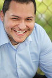 Young Latino man smiling Stock Photography