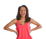Young laughing mulatto girl Royalty Free Stock Photos