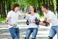 Young laughing people Stock Image