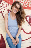 Young, laughing woman Royalty Free Stock Photos