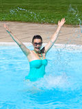 Young laughing woman in water Stock Photo