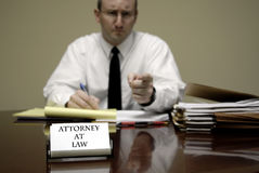 Young Lawyer Attorney At Desk Businessman Negotiations Royalty Free Stock Images