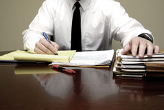 Young Lawyer Attorney At Desk Businessman Negotiations. Young attorney lawyer at desk businessman negotiations Royalty Free Stock Images