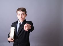 Young Lawyer pointing royalty free stock photos