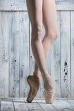 Young legs graceful ballerina Royalty Free Stock Photos