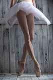 Young legs graceful ballerina Stock Image