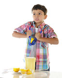 Young Lemon Squeezer Royalty Free Stock Photo