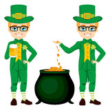 Young Leprechaun Saint Patrick Stock Photos