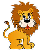 young lion. Illustration  young lion on white background Royalty Free Stock Photo