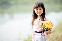 Young little Asian girl Stock Photo
