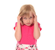 Young little girl in pain Royalty Free Stock Photo