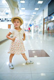 Young little girl in shopping mall Royalty Free Stock Photography
