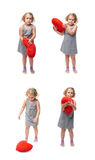 Young little girl standing over isolated white background Stock Images