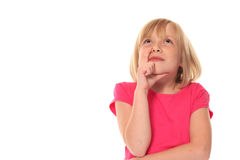 Young little girl thinking Stock Photography