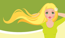 Young long haired girl in the image of spring Royalty Free Stock Photo