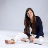 Young long-haired woman with natural beauty Royalty Free Stock Photo