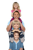 Young lovable happy family Stock Image