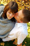 Young Love. Very attractive couple in love posing for portraits Stock Photography