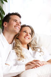 Young love couple stock photography