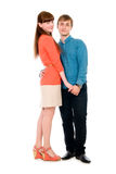 Young love couple in full view. Royalty Free Stock Photos