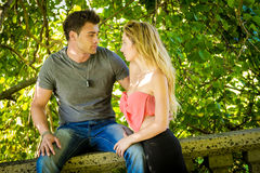 Young Happy Couple. Young couple gaze into each others eyes Stock Images