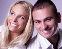 Young love couple have a romance Royalty Free Stock Image