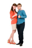 Young love couple showing thumbs up Royalty Free Stock Photography