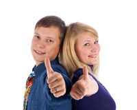Young love couple smiling Royalty Free Stock Photography