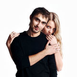 Young Love Couple Smiling. Royalty Free Stock Images