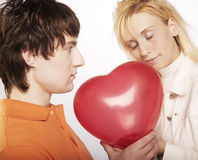 Young love couple smiling. Stock Image