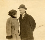 Young Love, Long Ago. This is a picture of my two parents shortly after their wedding in 1916 stock photo