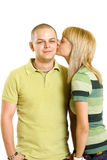 Young in love pair Royalty Free Stock Images