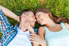 So young and so in love! Royalty Free Stock Images