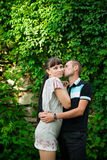 Young lovebirds in nature Royalty Free Stock Photo