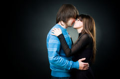 Young lovely couple embracing Royalty Free Stock Images