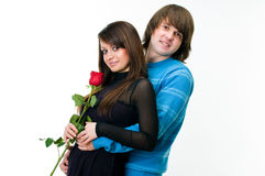 Young lovely couple embracing Stock Images