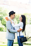 Young and lovely couple on a romantic date Royalty Free Stock Image