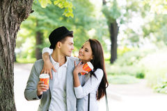 Young and lovely couple on a romantic date Royalty Free Stock Photo