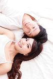 Young lovely couple smile Stock Photos