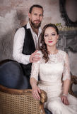 Young lovely wedding couple Royalty Free Stock Image