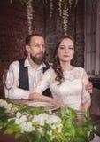 Young lovely wedding couple Stock Photo