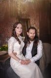 Young lovely wedding couple Stock Image