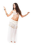 Young lovely woman belly dancer Royalty Free Stock Images