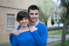 Young lovers excited about your new home Stock Images