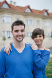 Young lovers excited about your new home Royalty Free Stock Image