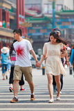 Young lovers hand in hand, Beijing, China Royalty Free Stock Images