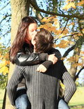 Young lovers kiss Royalty Free Stock Photo