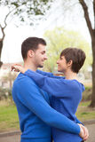 Young lovers looking with love Royalty Free Stock Photos