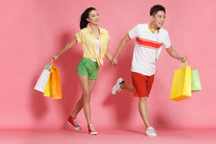 Young lovers shopping Royalty Free Stock Photo